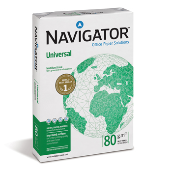 PAPEL A4 UNIVERSAL 80G NAVIGATOR RESMA 500 FOLHAS