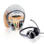 Auriculares estéreo de alta qualidade especialmente para música e jogos, mas também para videoconferência e chat