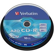 PACK CD-R 10 UNIDADES VERBATIM