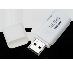PEN 2.0 TOSHIBA 16GB TRANSMEMORY WHITE